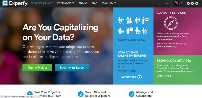 تصویر از معرفی سایت experfy – منبعی برای انجام و درخواست پروژه های تحلیل داده