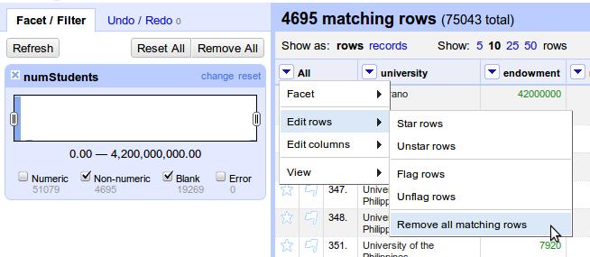 GoogleRefine_RemoveAllMatchingRows