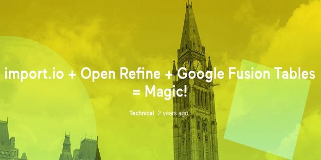 تصویر از Import.io + OpenRefine + Google Fusion Tables = یک مثال عملی جادویی