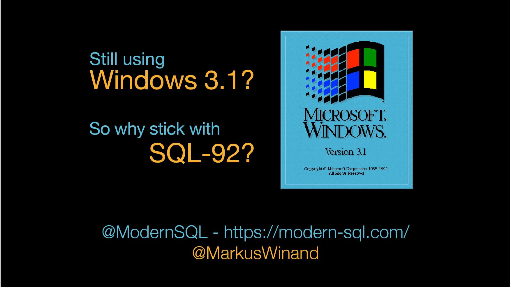 تصویر از شما هم هنوز از SQL-92 استفاده میکنید؟