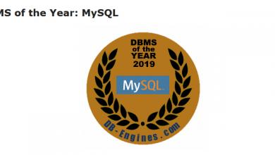 تصویر از انتخاب MySQL به عنوان بانک اطلاعاتی ۲۰۱۹